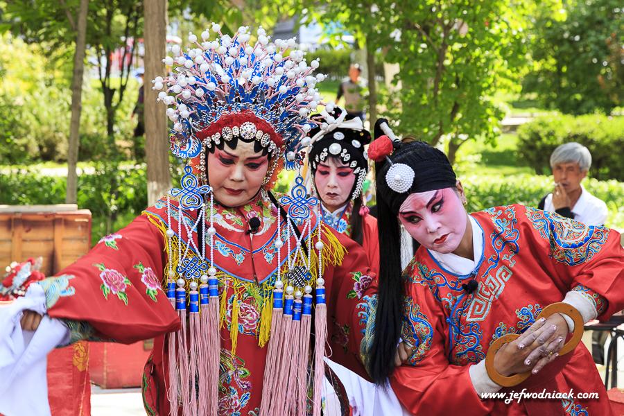 Dans un parc de Lanzhou