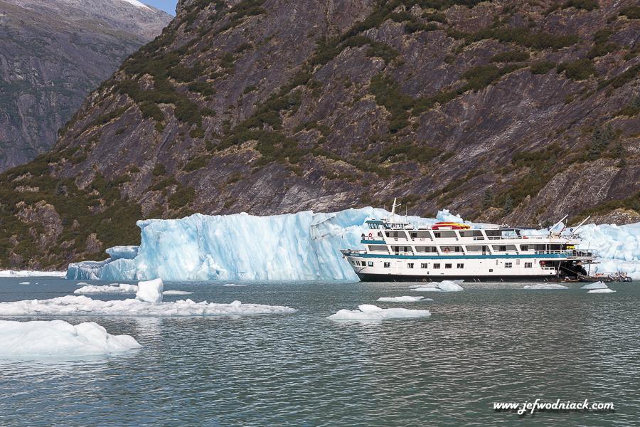 Iceberg dans le fjord Tracy Arm