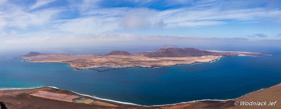 L'île de Graciosa vue depuis Lanzarote
